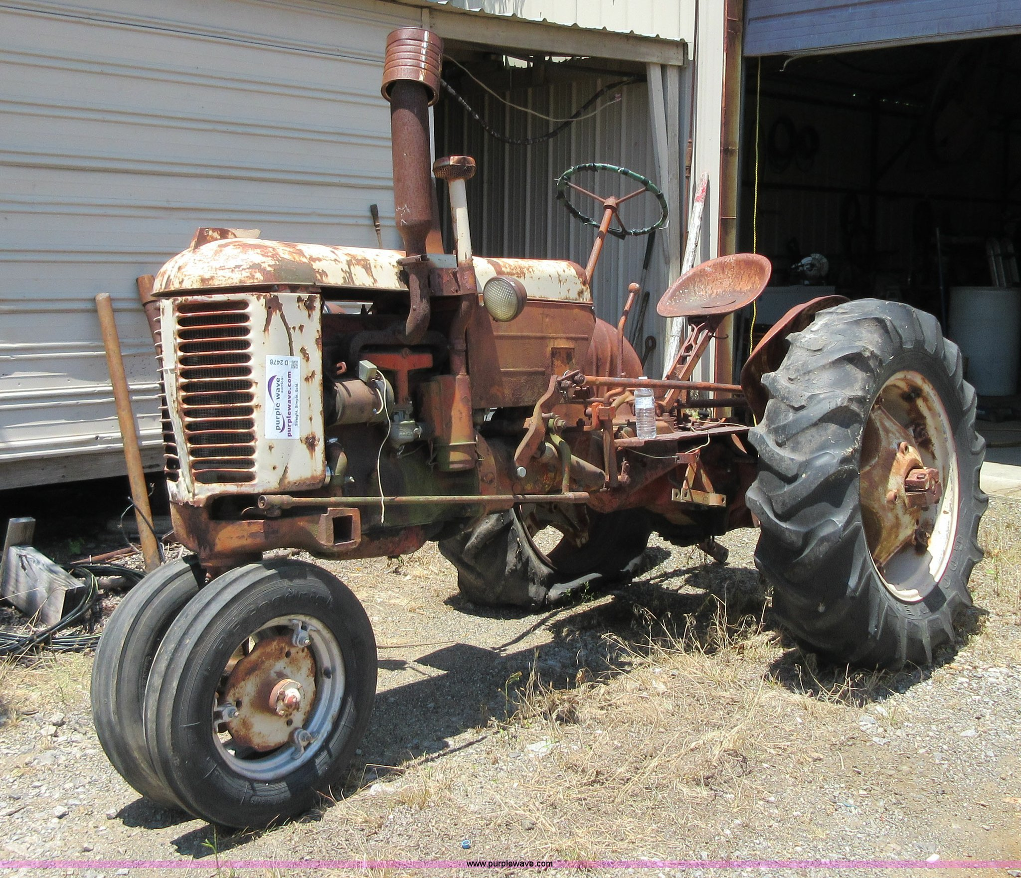 1947 Case Tractor : Case vac tractor item d sold july vehicles