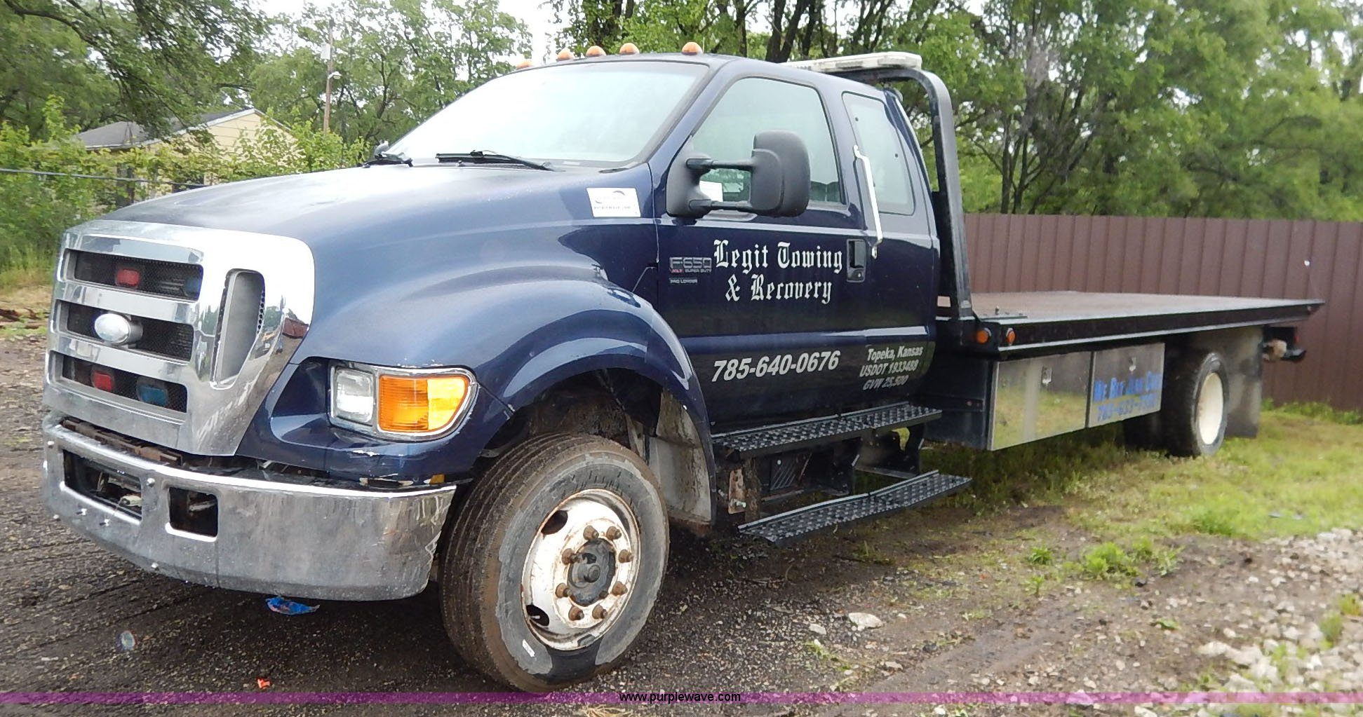 2007 Ford F650 Super Duty SuperCab tow truck Item K7454