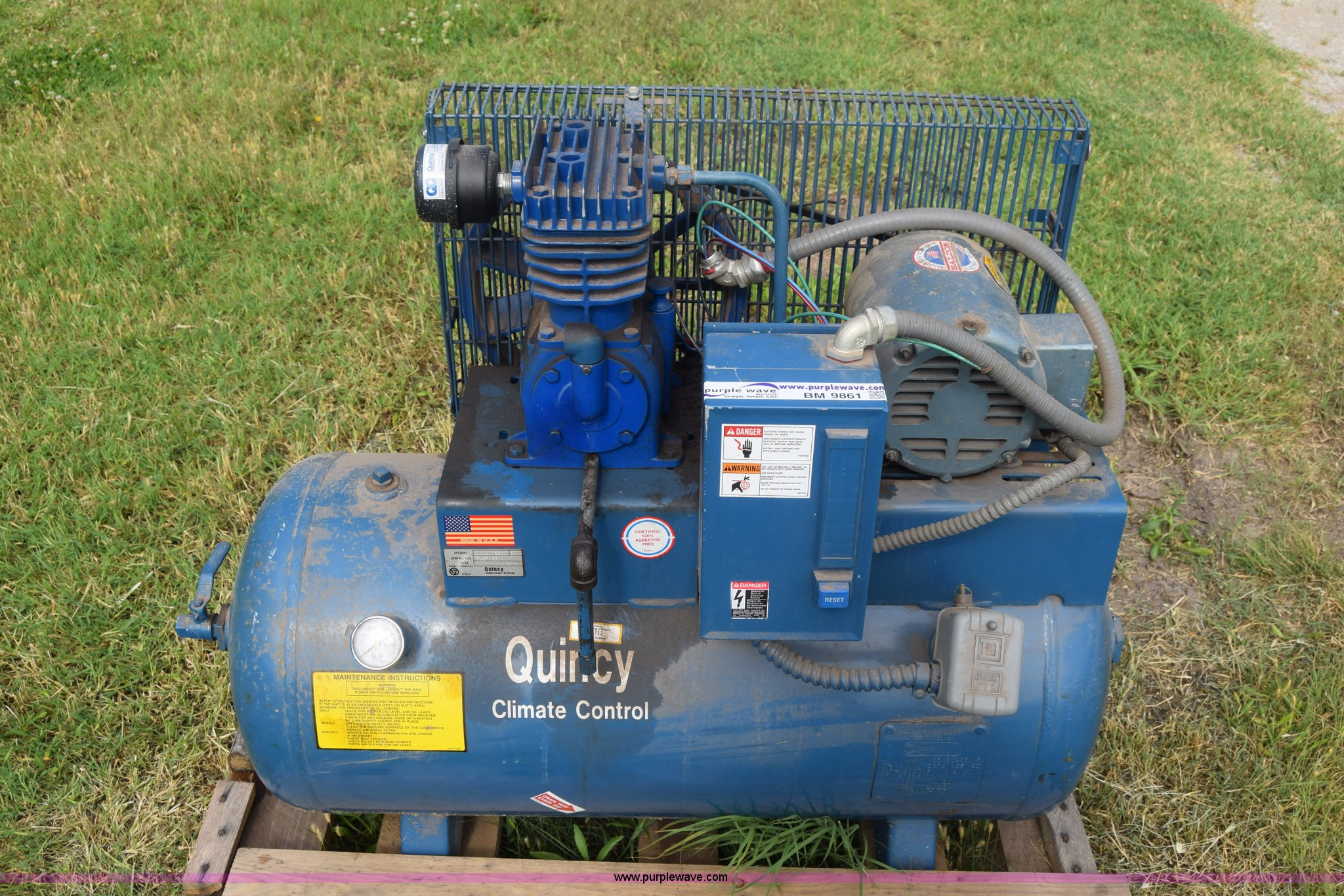 Quincy Air Compressor Item Bm9861 Sold July 7 Governmen Wiring Diagram Image For