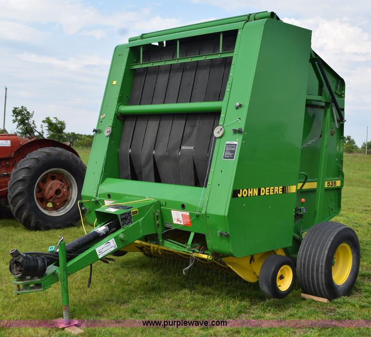 H5047 1991 john deere 535 round baler item h5047 sold! july 15 John Deere 535 Hay Baler at fashall.co