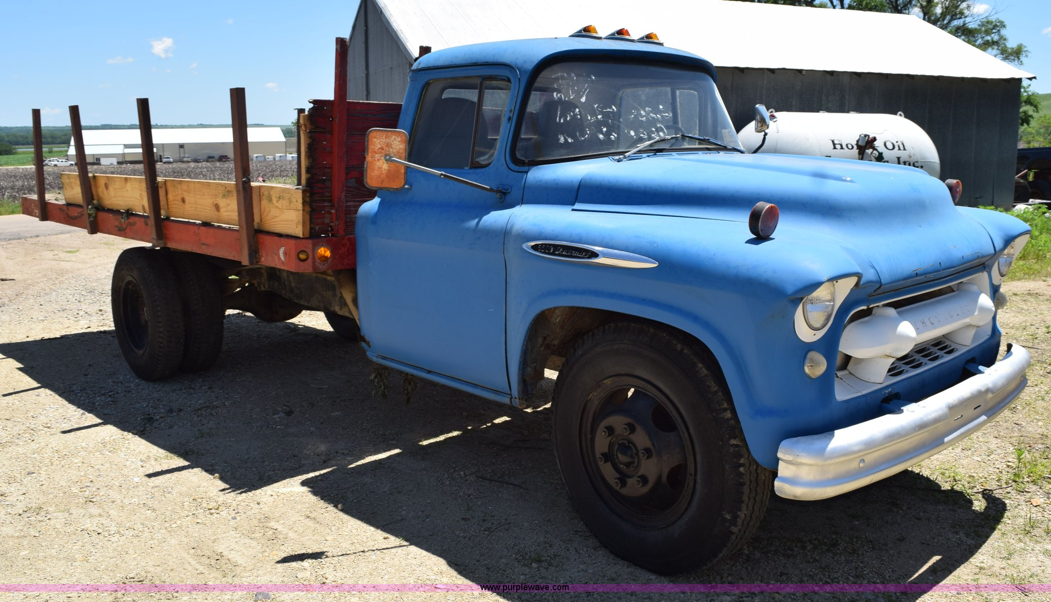 1957 Chevrolet 6500 Flatbed Truck Item K6020 Sold July Chevy Pickup Sale Full Size In New Window