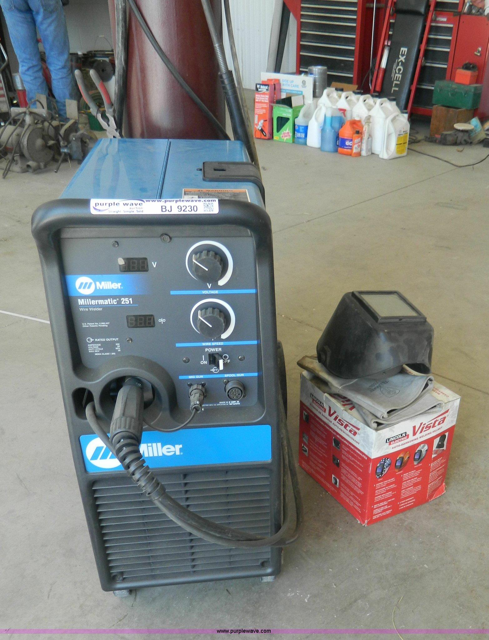 Miller MillerMatic 251 wire feed welder | Item BJ9230 | SOLD...