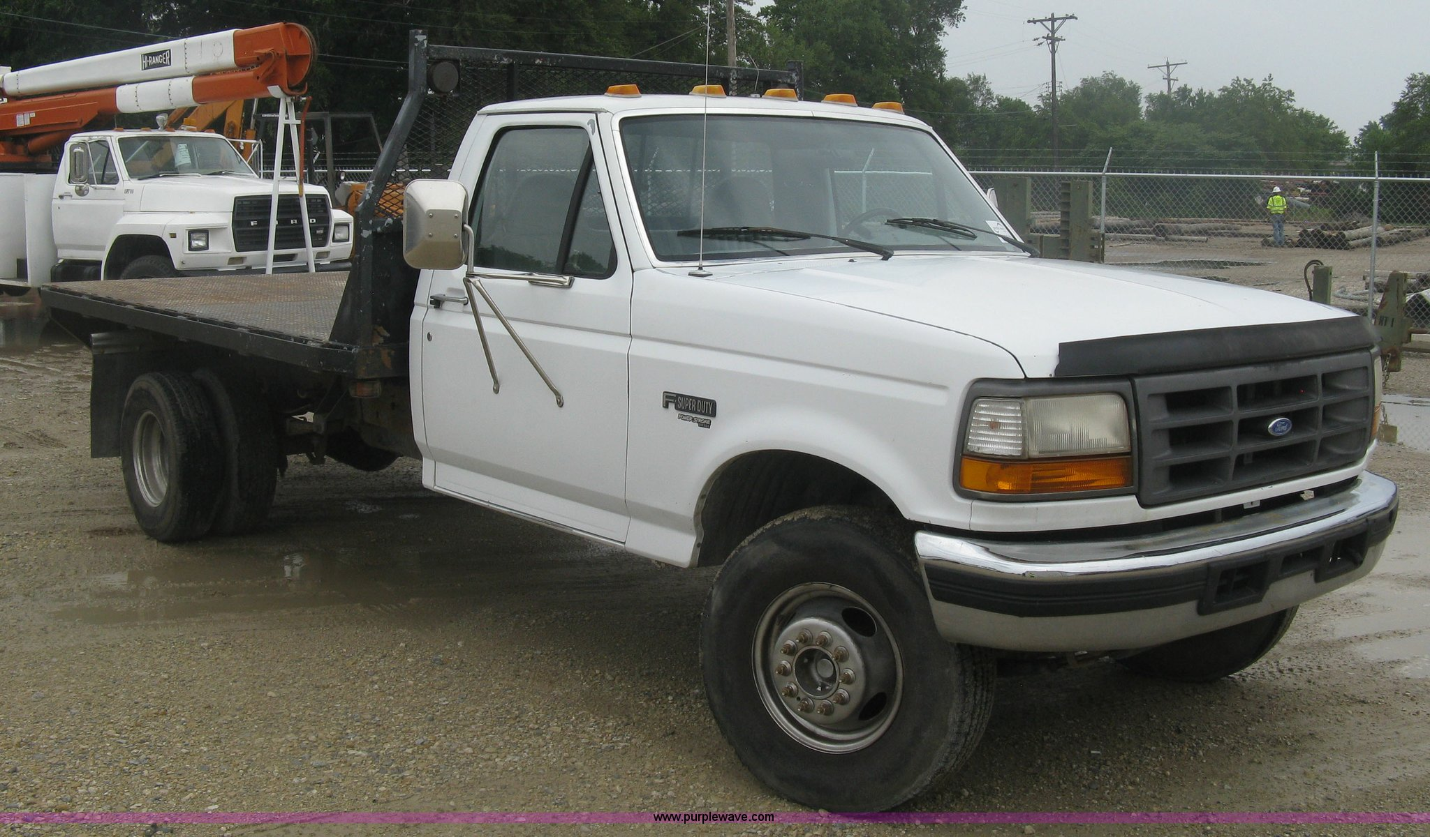 1997 Ford F450 Super Duty Flatbed Truck In Wichita Ks Item K8677 Sold Purple Wave
