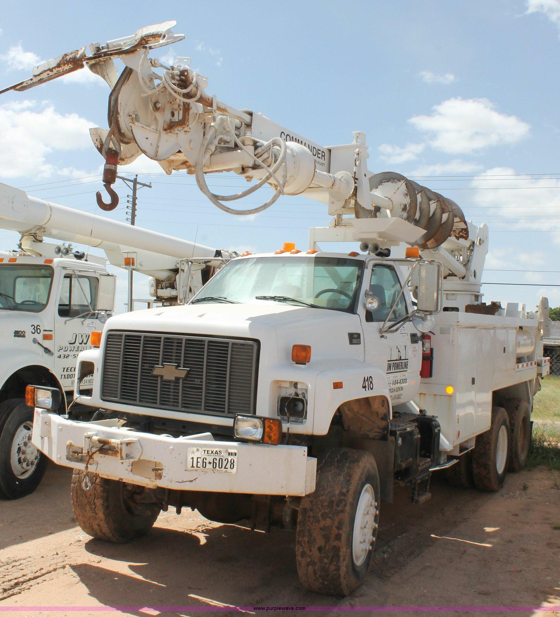 2000 chevrolet c8500 digger derrick truck item l4264 sol rh purplewave com