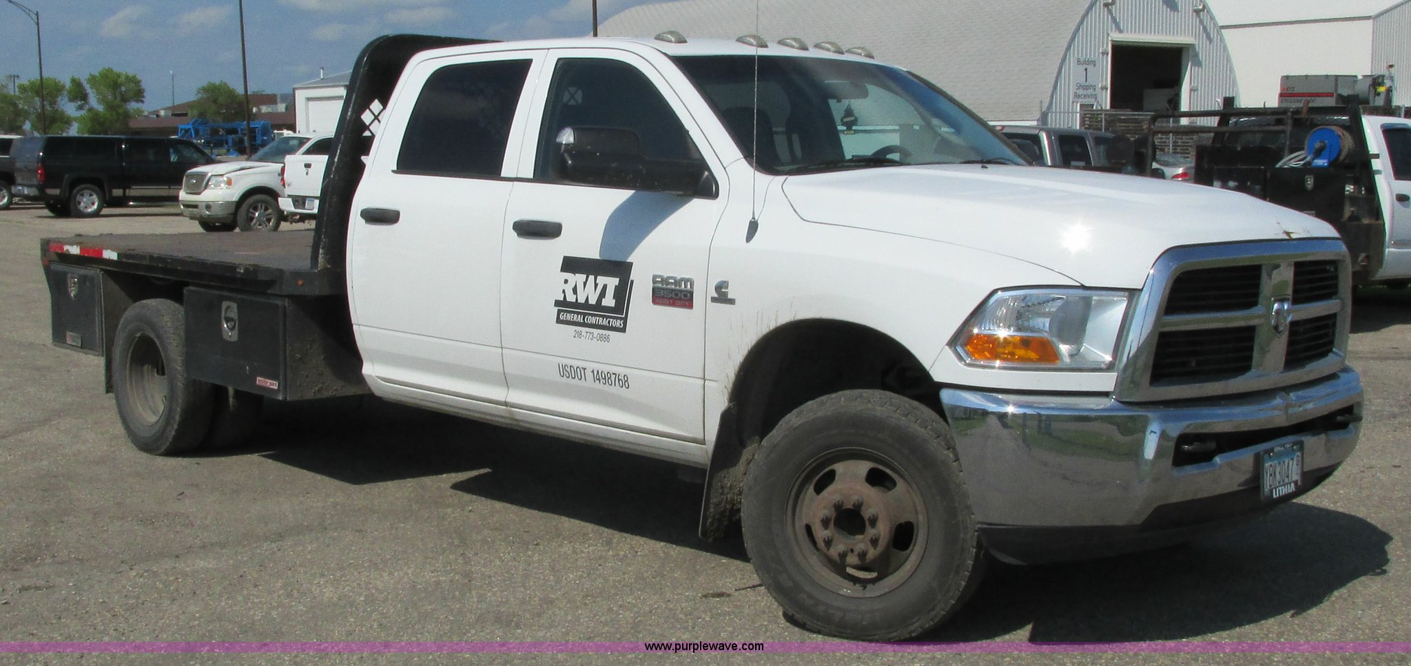 2011 Dodge Ram 3500 Crew Cab Flatbed Pickup Truck Item L26 Wiring Full Size In New Window