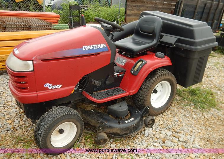 Craftsman Gt5000 Riding Mower With Bagger Item Bo9994