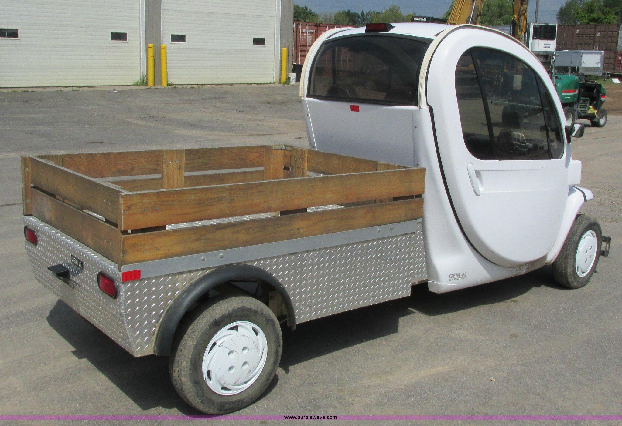 2008 Gem Car Gem El electric utility cart   Item J1761   SOL...