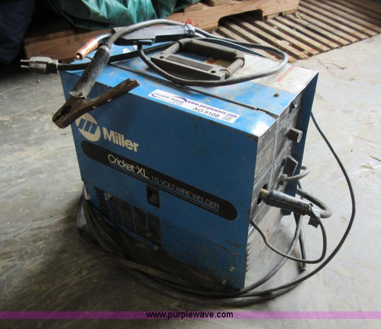 Miller Welders For Sale >> Miller Cricket Xl Mig Welder Item Ao9108 Sold Thursday