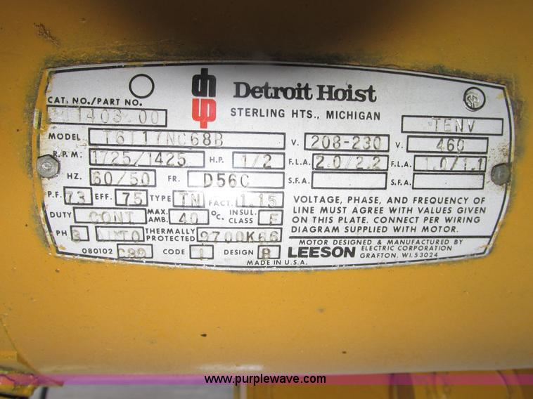 Magnificent Detroit Hoist Wiring Diagram Wiring Diagrams Lol Wiring Cloud Oideiuggs Outletorg