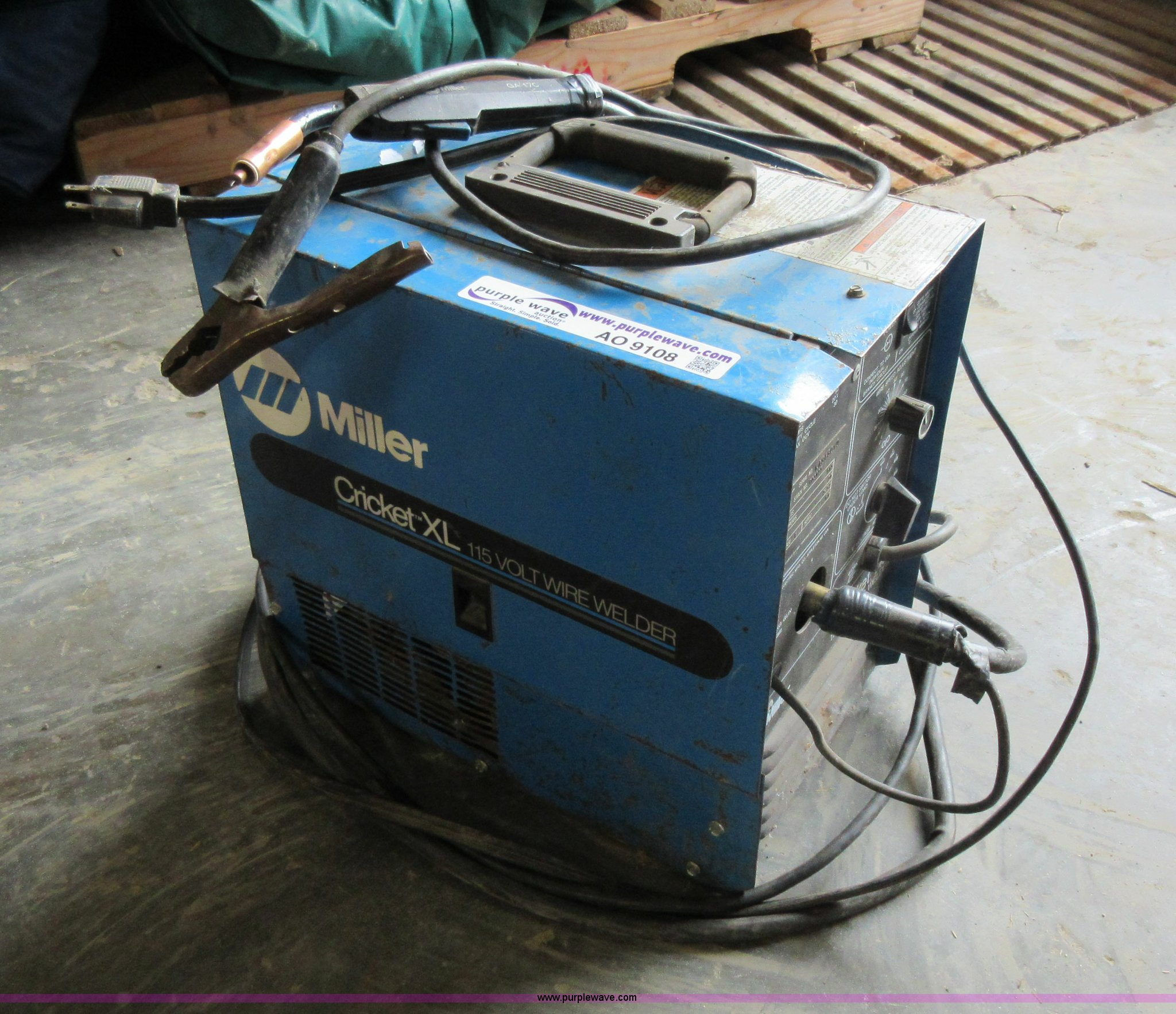 Miller 110 Wire Welder Machines Mig Tig Combo Wiring Diagram Cricket Xl Item Ao9108 Sold Thursday Suitcase Image For