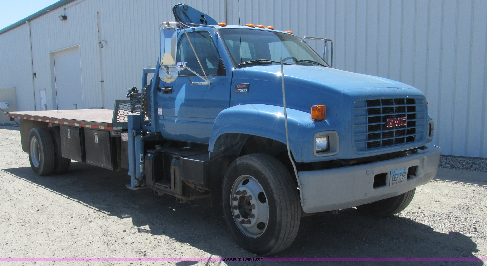 1999 GMC C7500 flatbed truck with crane | Item A8848 | SOLD!