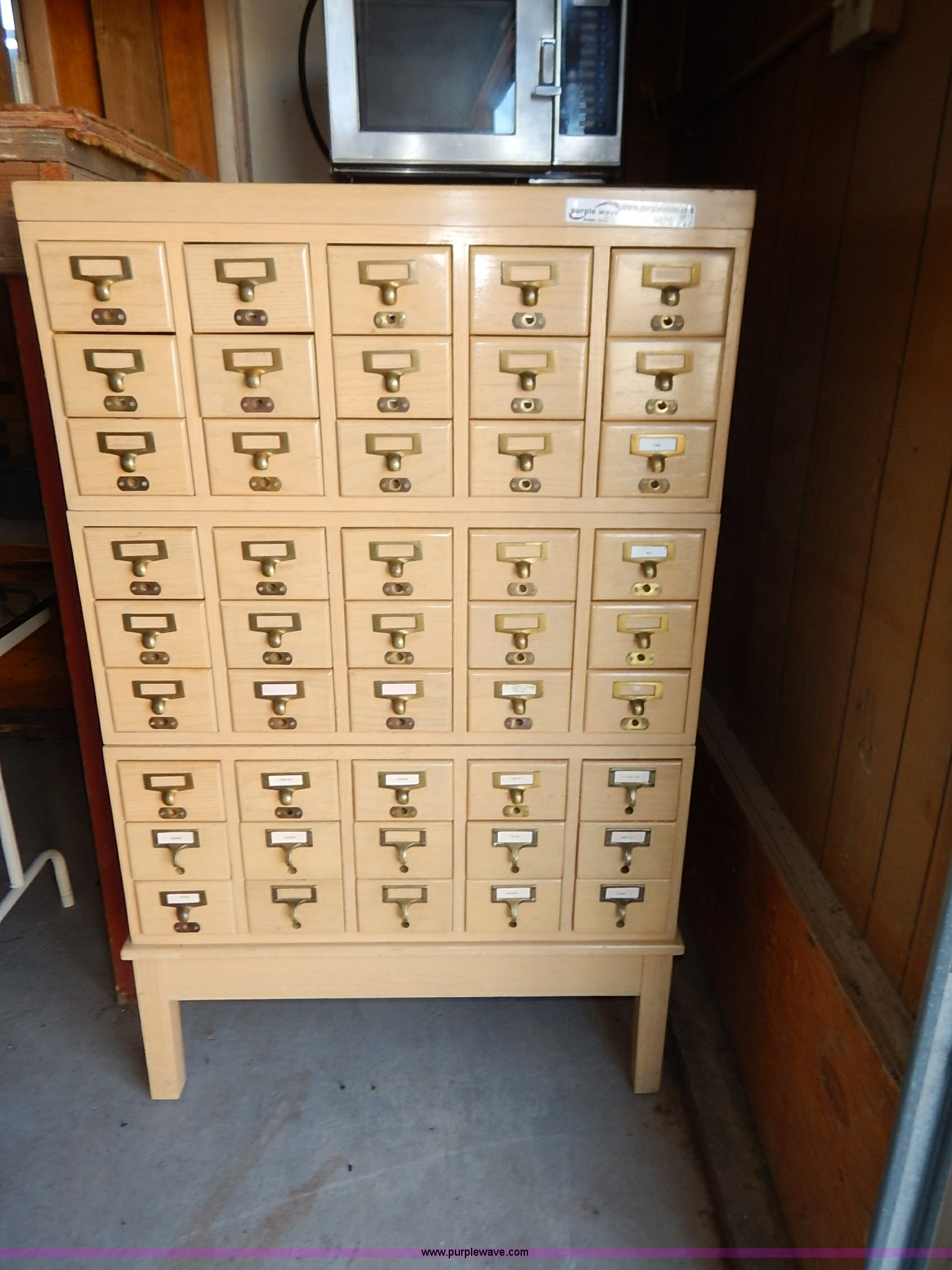Library Card Catalog Cabinet Item Bo9825 Sold September