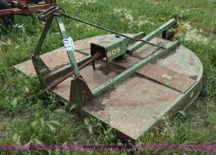 John Deere 606 Rotary Mower Item K6231 Sold September