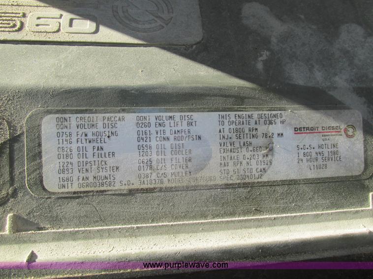1991 Kenworth T600 semi truck   Item K5109   SOLD! September