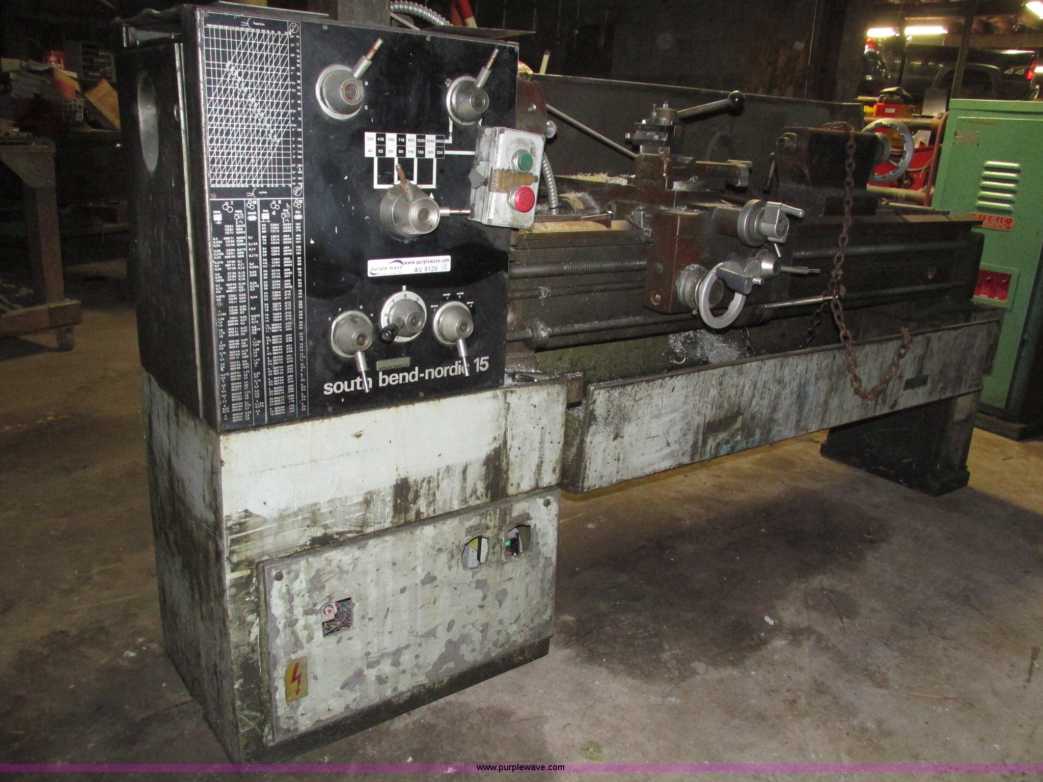 South Bend Nordic 15 metal lathe   Item AV9129   SOLD! Septe