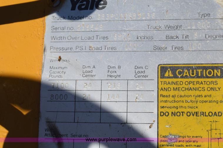 1973 Yale forklift | Item K8695 | SOLD! September 24 Constru