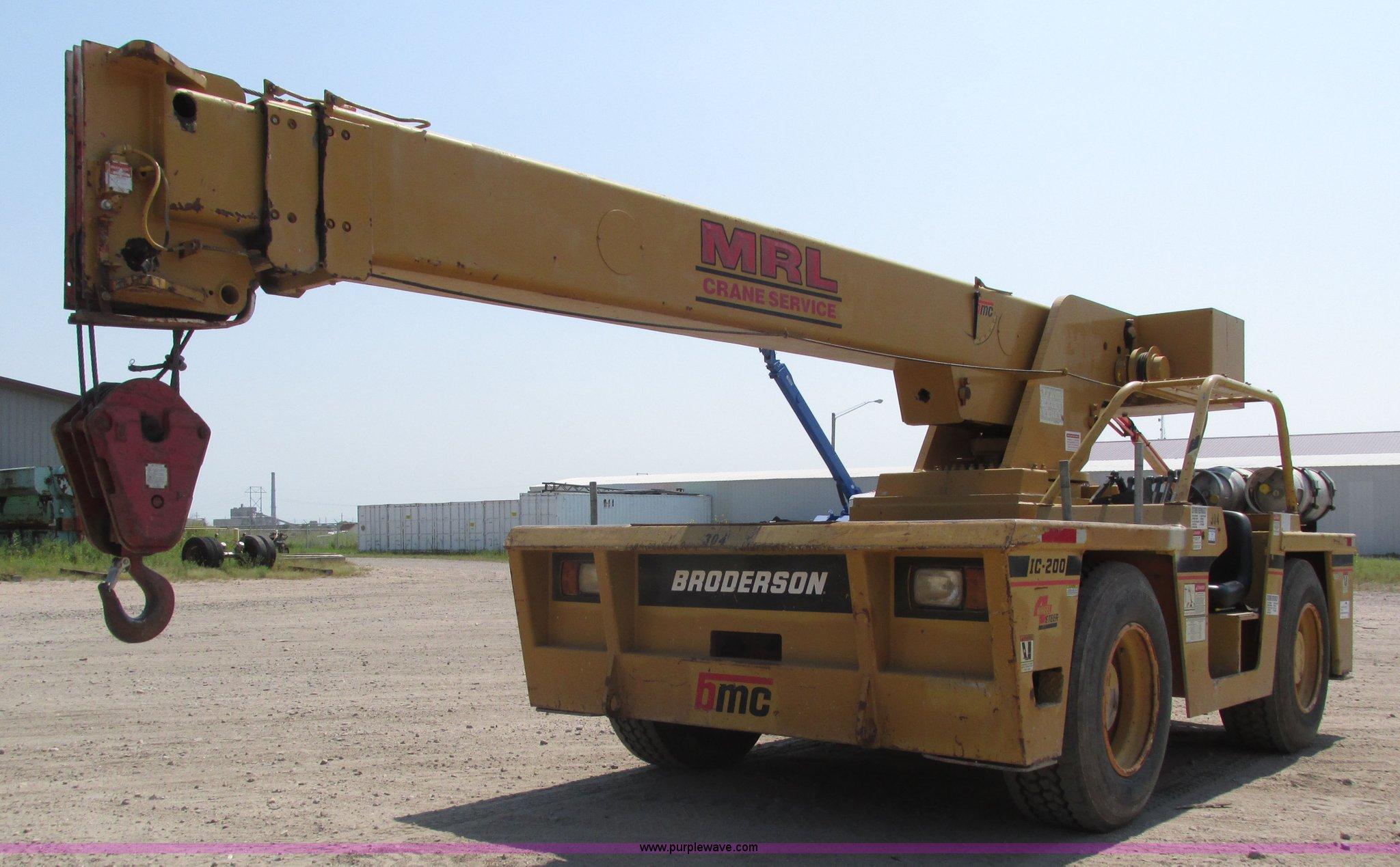 1998 Broderson IC-200-2C carry deck crane | Item H1222 | SOL