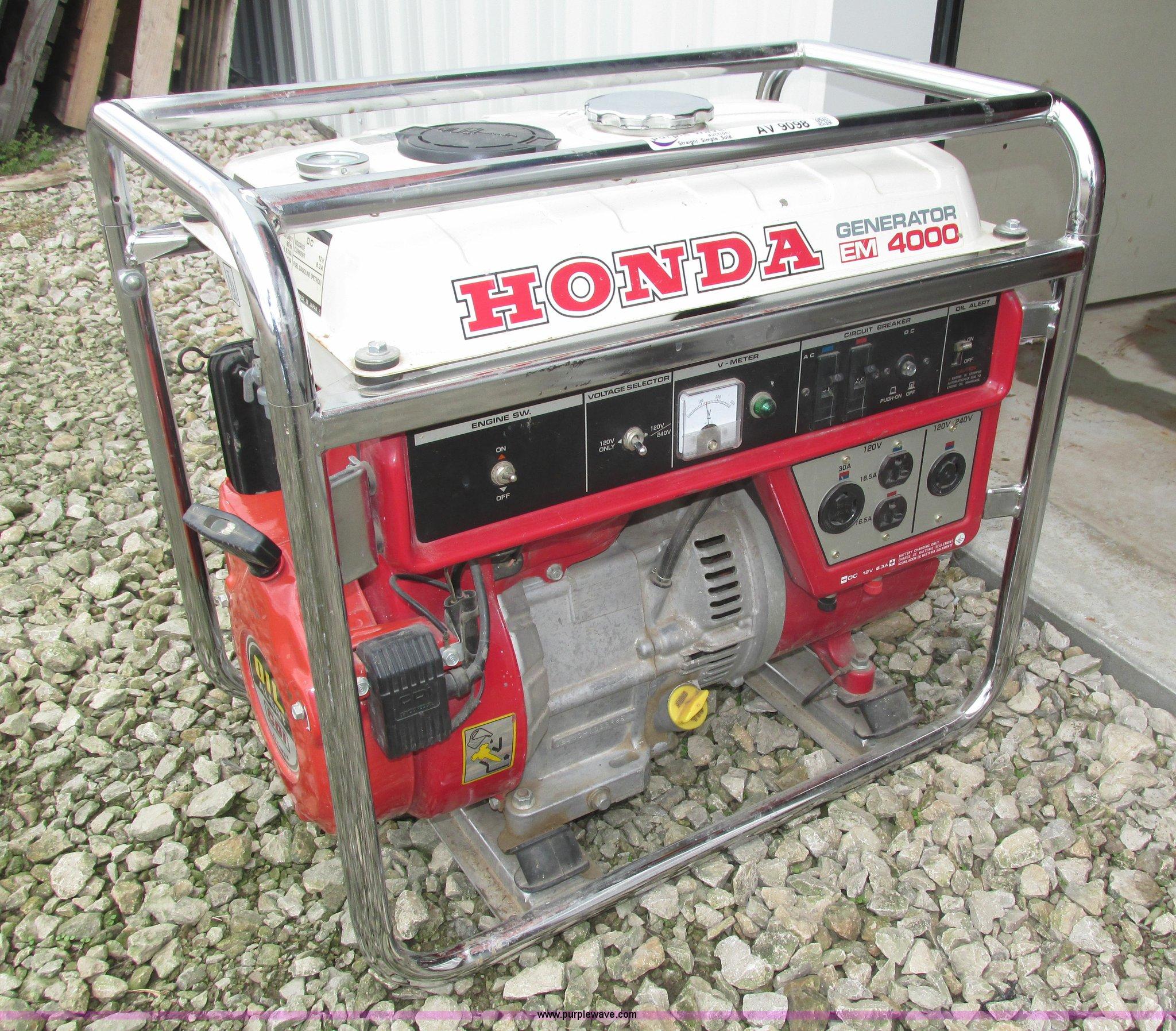 Honda EM4000 generator Item AV9098