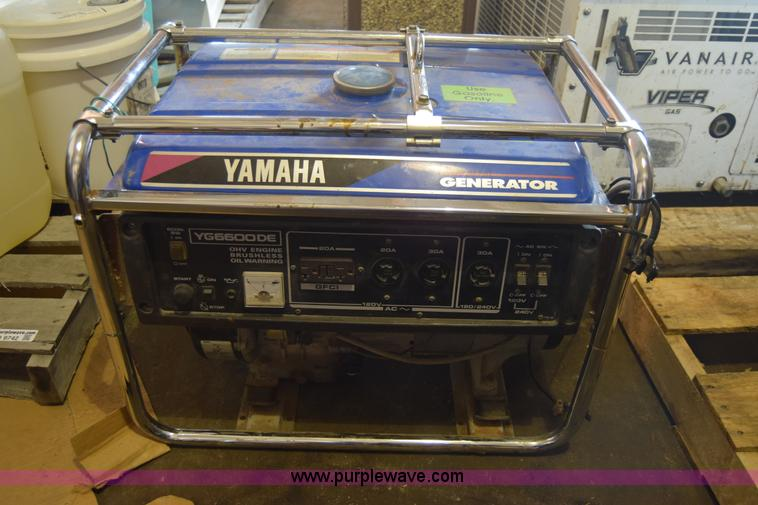 Yamaha Yg6600de Generator No Reserve Auction On