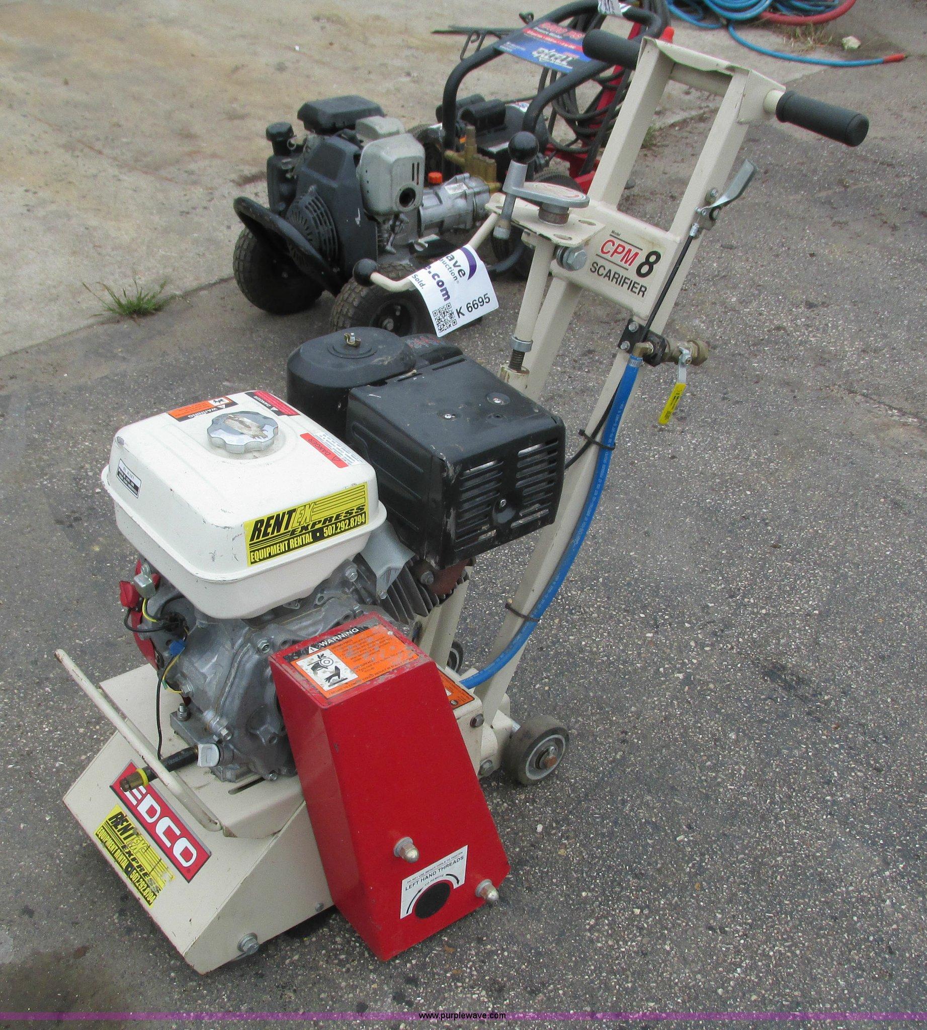 Edco concrete grinder   Item K6695   SOLD! October 15 Rogers