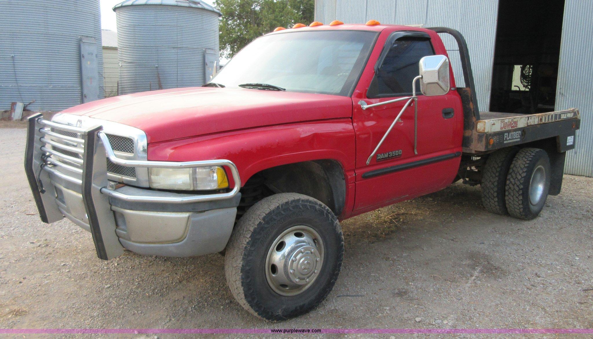2000 Dodge Ram 3500 Flatbed Pickup Truck In Girard Ks Item I1963 Sold Purple Wave