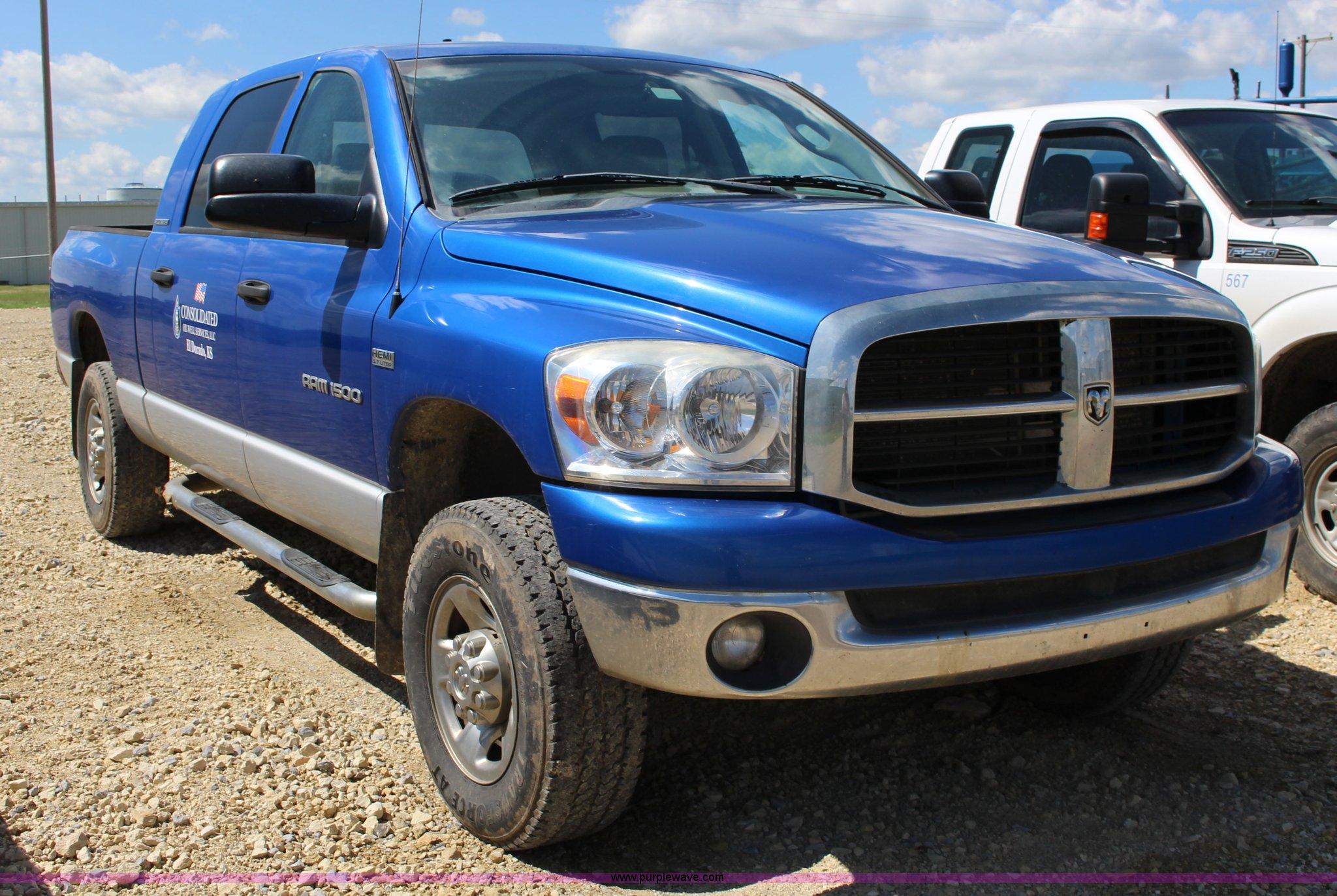 2007 Dodge Ram 1500 Mega Cab Pickup Truck In El Dorado Ks Item K1158 Sold Purple Wave