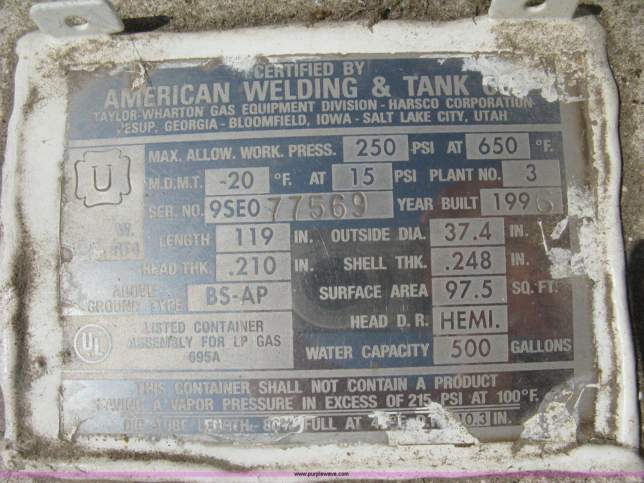 2 American Welding Amp Tank Co Propane Tanks Item Br96