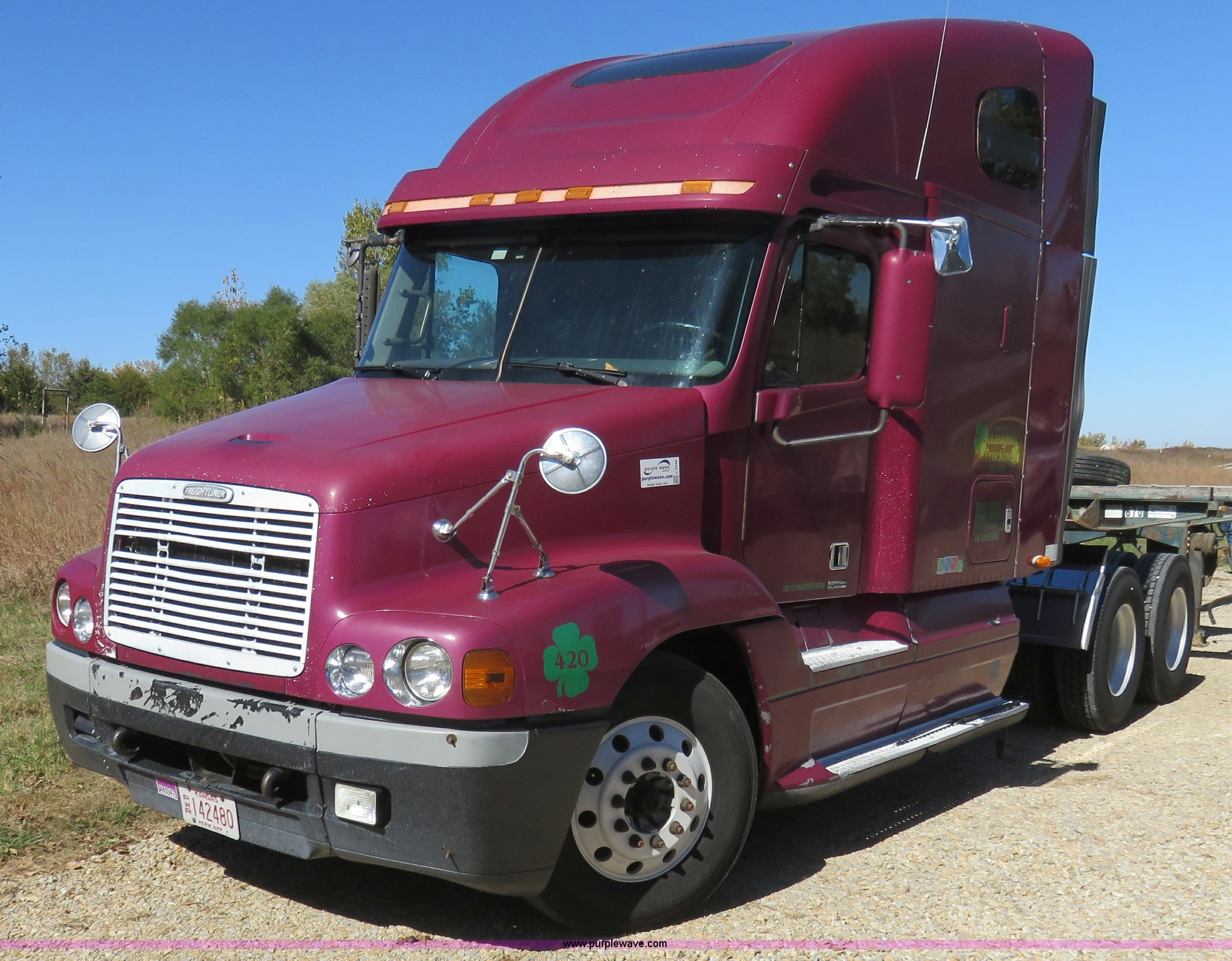 ... 1999 Freightliner Century Class semi truck Full size in new window ...