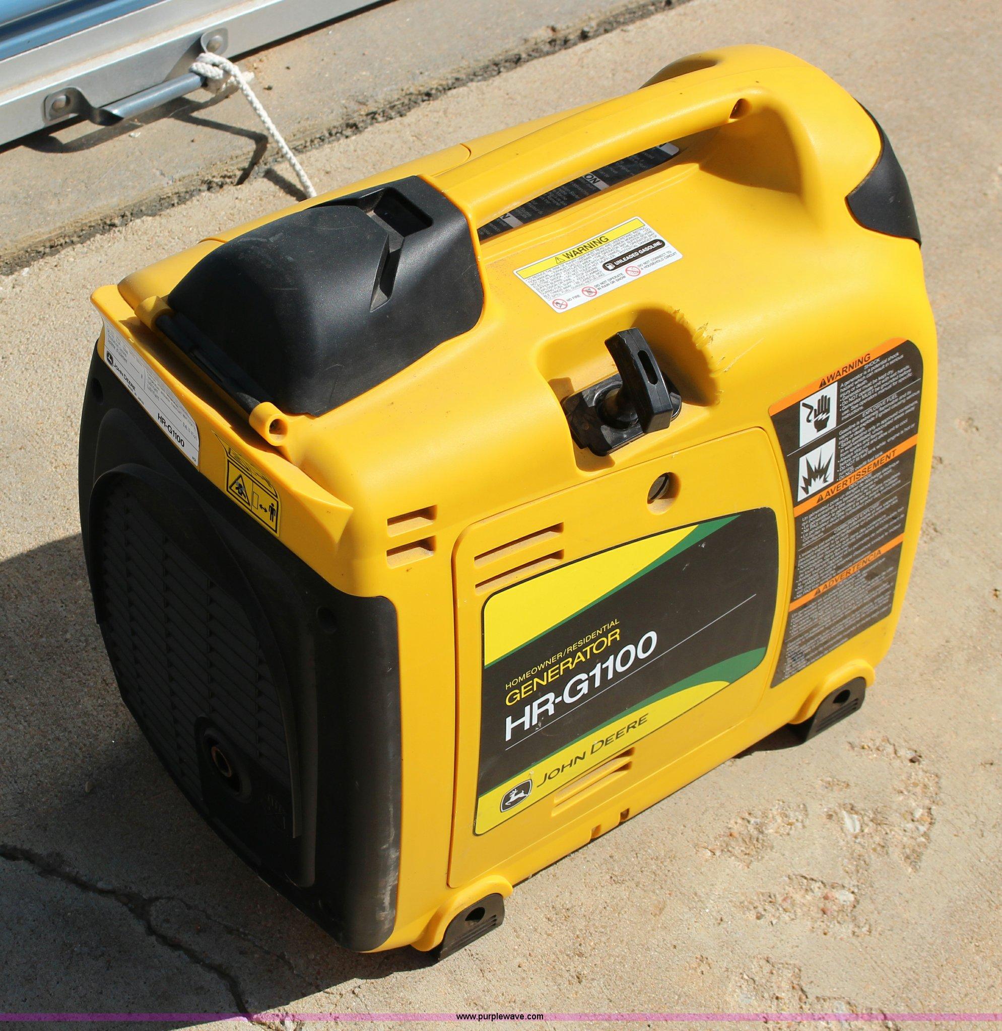 John Deere HR G1100 generator Item BC9192