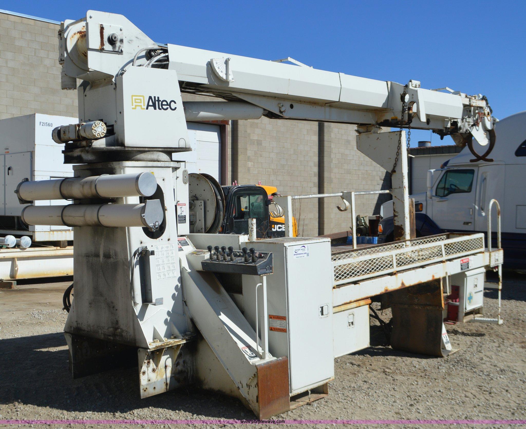 Altec D845A digger derrick utility bed   Item I6377   SOLD!