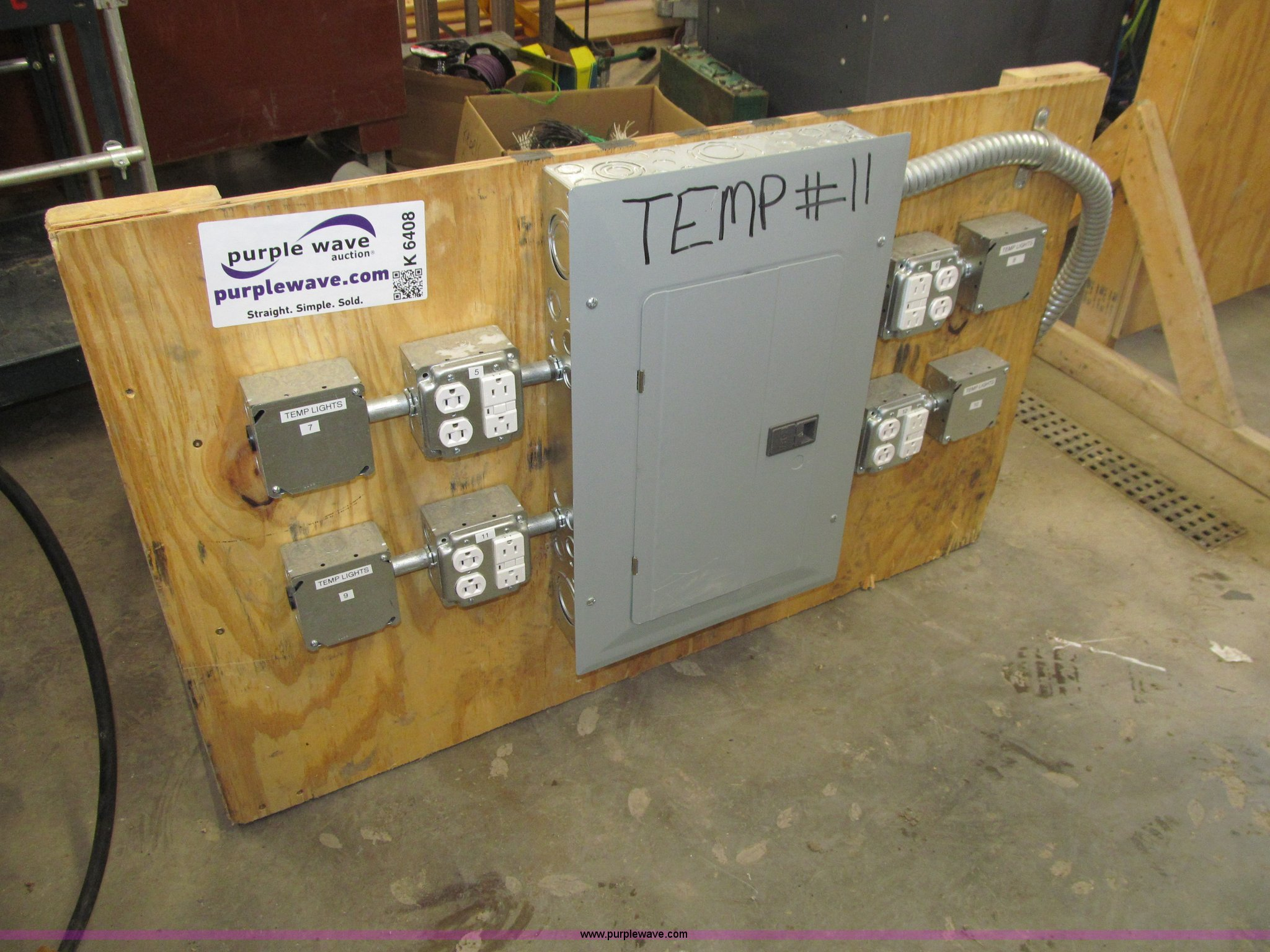 temporary electrical panel item k6408 sold november 19 rh purplewave com temporary power wiring Temporary Lighting
