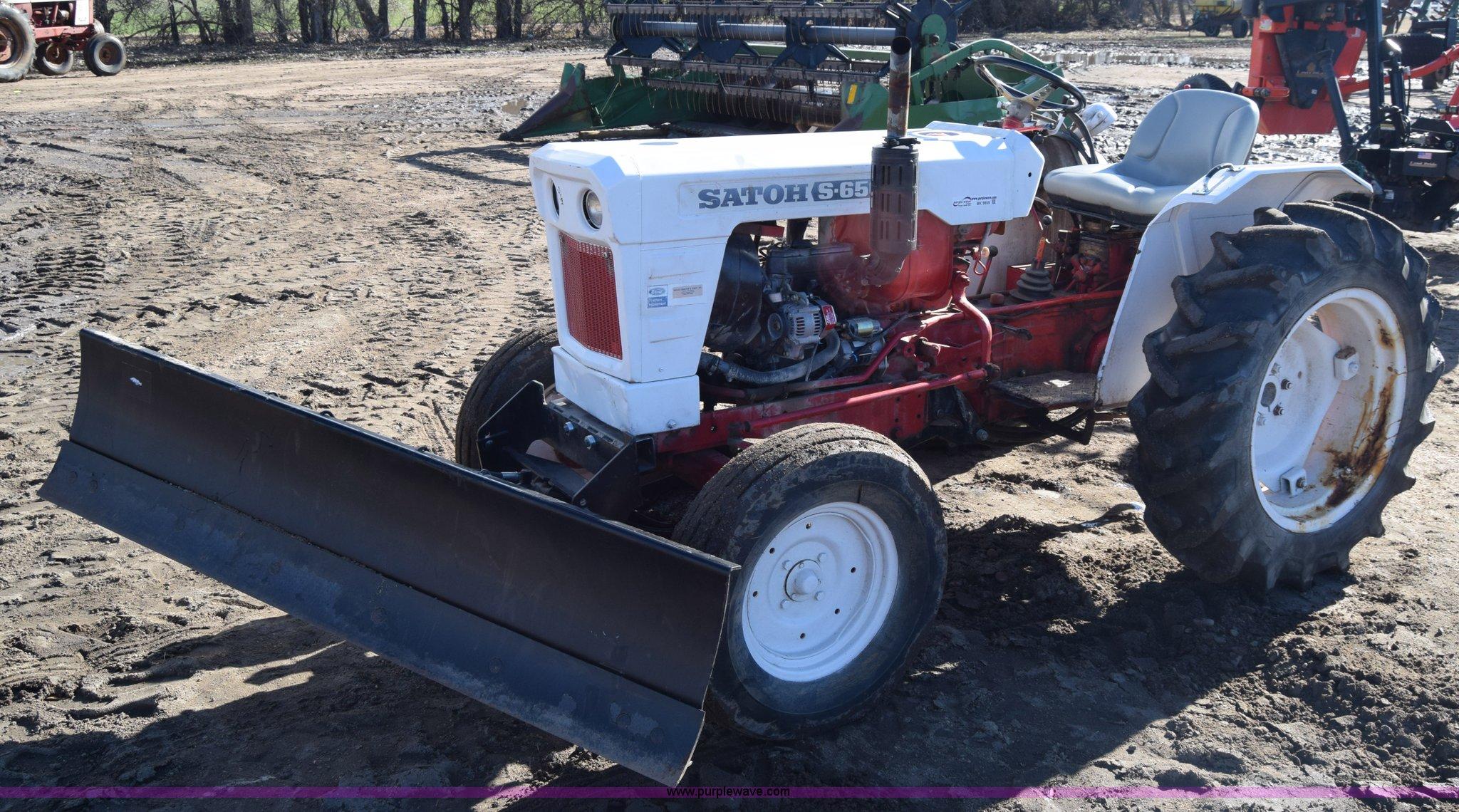 Satoh S650G tractor   Item BK9859   SOLD! December 16 Ag Equ