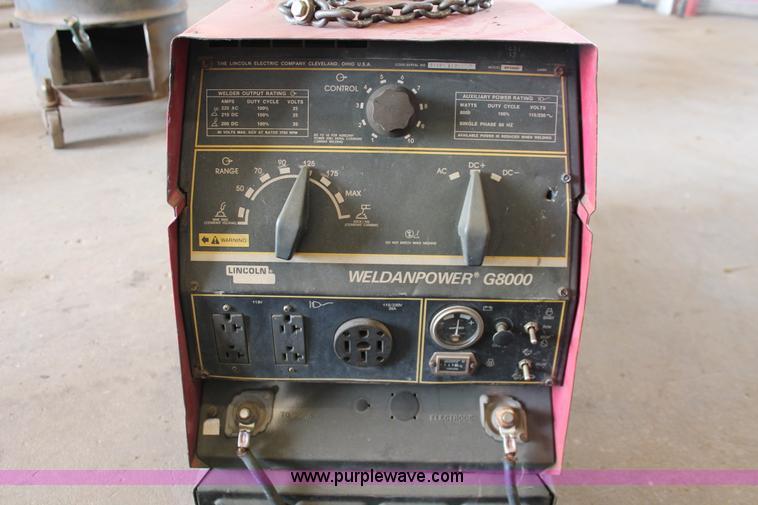 Lincoln Weldanpower G8000 welder/generator | Item AO9456 | S... on