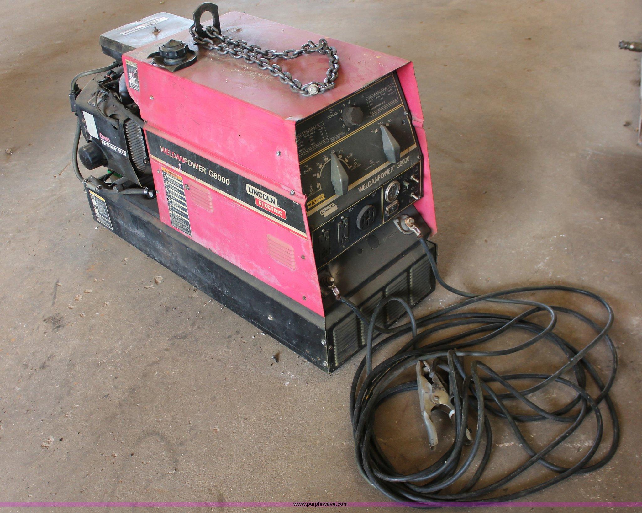 Lincoln Weldanpower G8000 Wiring Diagram Not Lossing 225 Welder Generator Item Ao9456 S Rh Purplewave Com Specs 1993