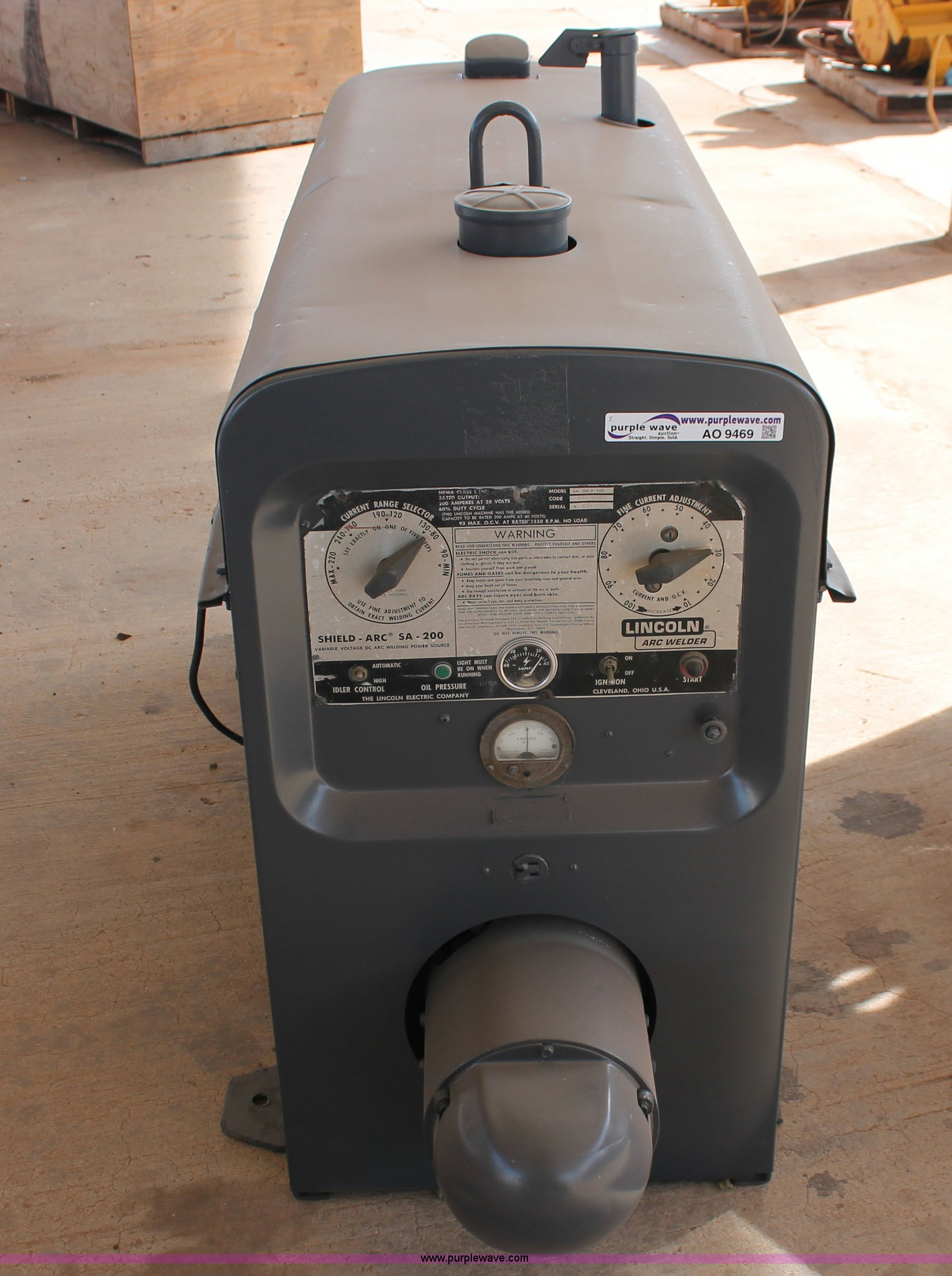 Lincoln Sa 200 F 163 Welder Item Ao9469 Sold December 1 Parts Full Size In New Window