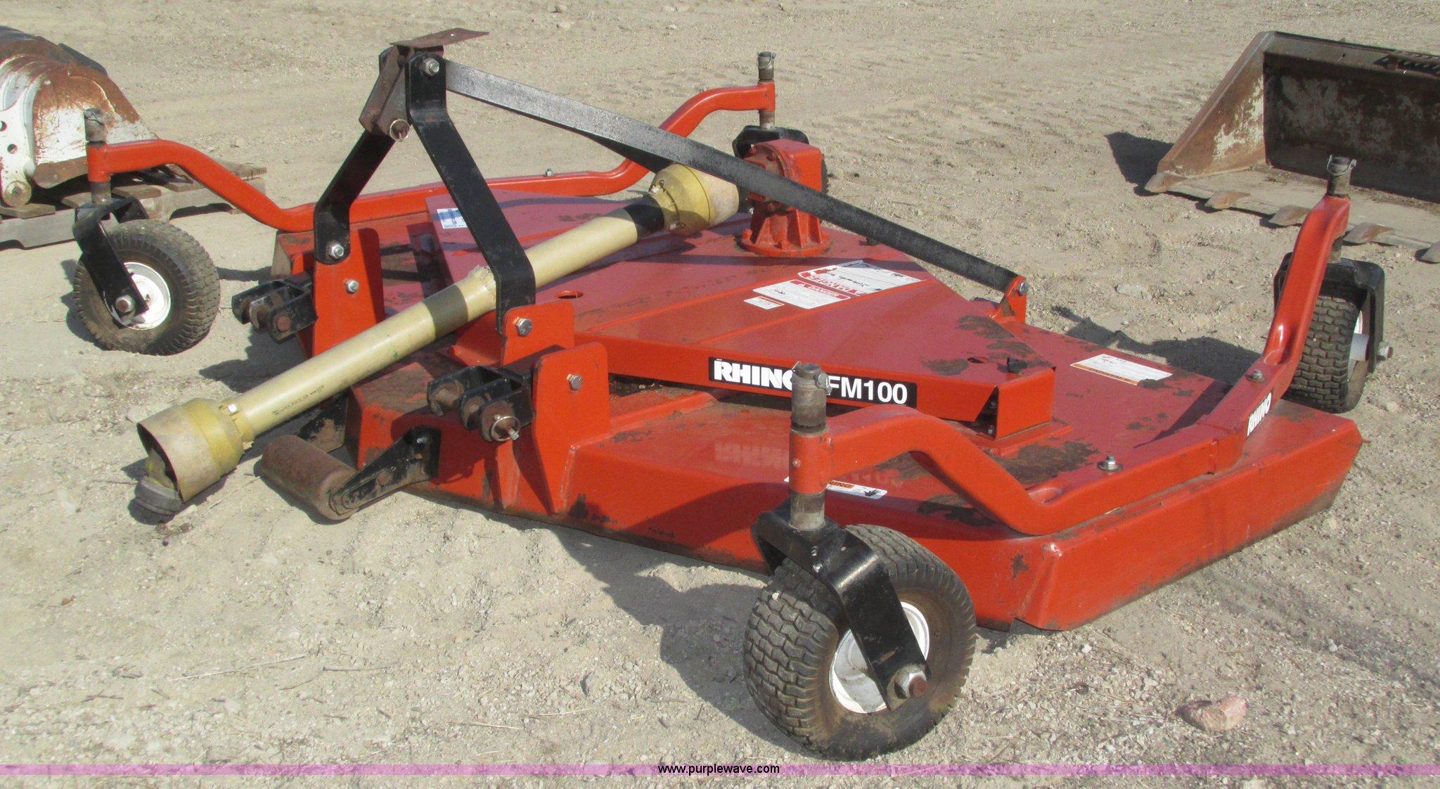 Rhino FM100 finish mower | Item H1058 | SOLD! December 17 Co