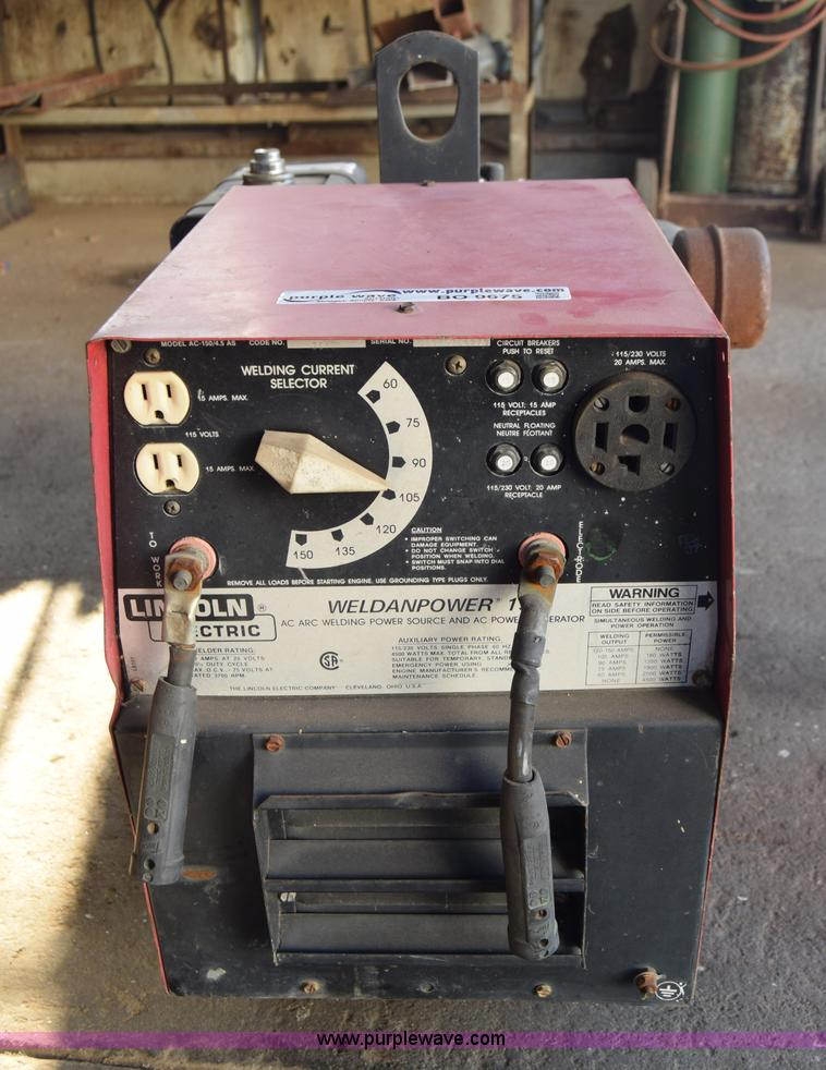 for welder item power image auction generator electric arc sale lincoln
