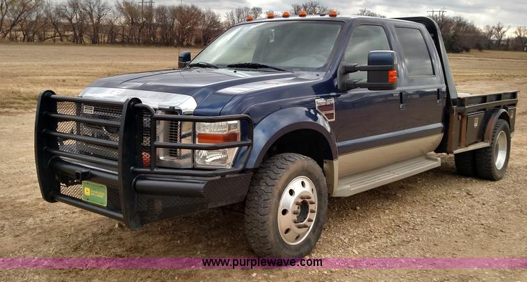 Ford F250 8 Foot Bed For Sale >> 2008 Ford F450 Super Duty Lariat King Ranch Crew Cab flatbed...