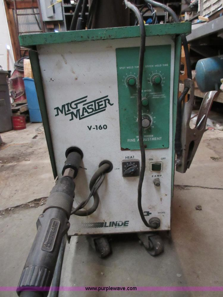 Lincoln Welders For Sale >> Linde Weld Mig Master V-160 mig welder | Item K5266 | SOLD