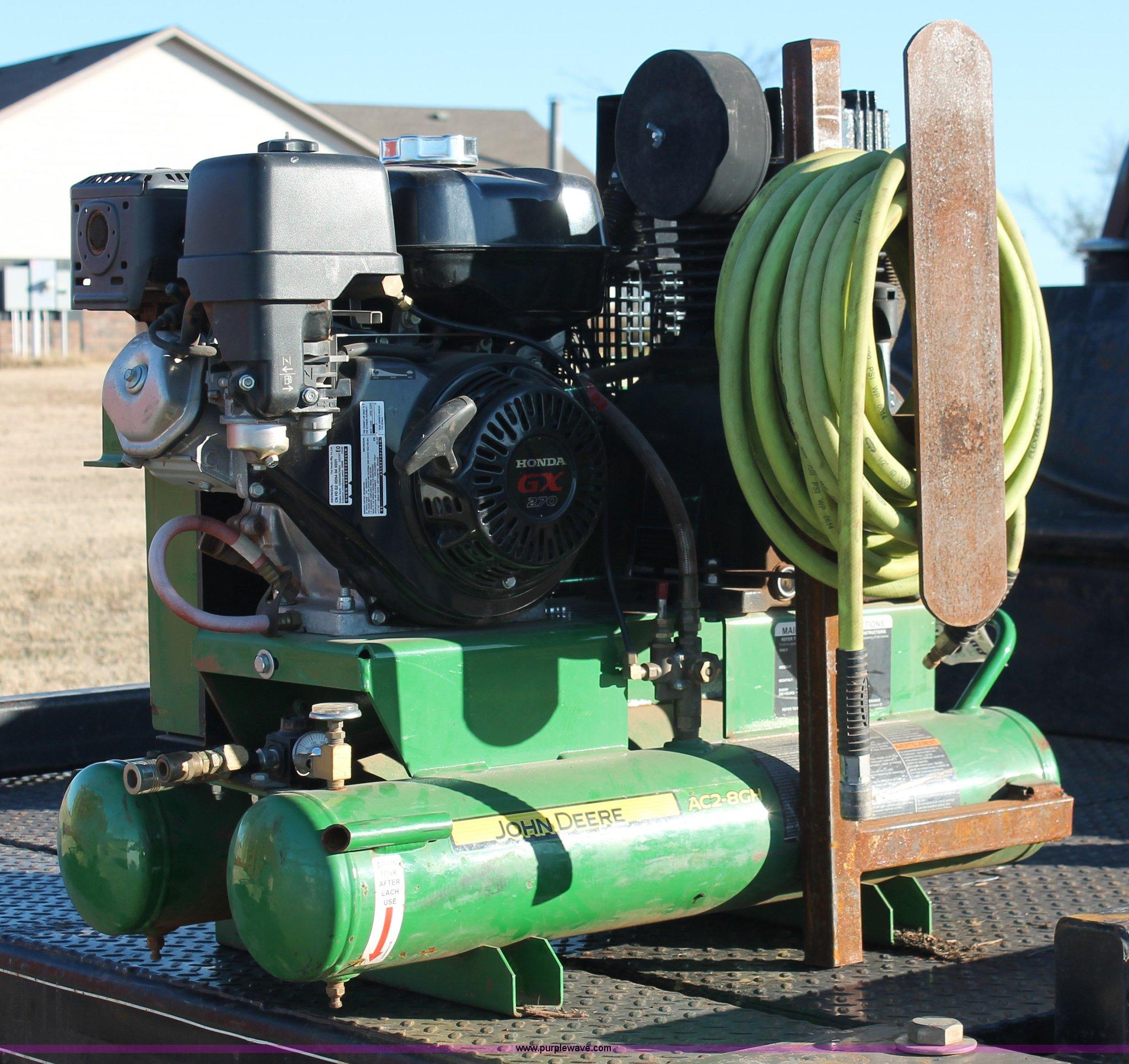 John Deere Air Compressor >> John Deere Ac2 8gh Air Compressor Item H8010 Sold Decem