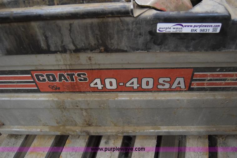 Coats 40-40SA tire machine | Item BK9831 | SOLD! January 13 ...