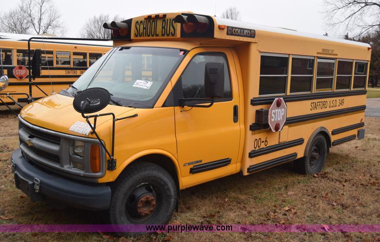 2000 Chevrolet Express 3500 Cargo School Bus Item L1199