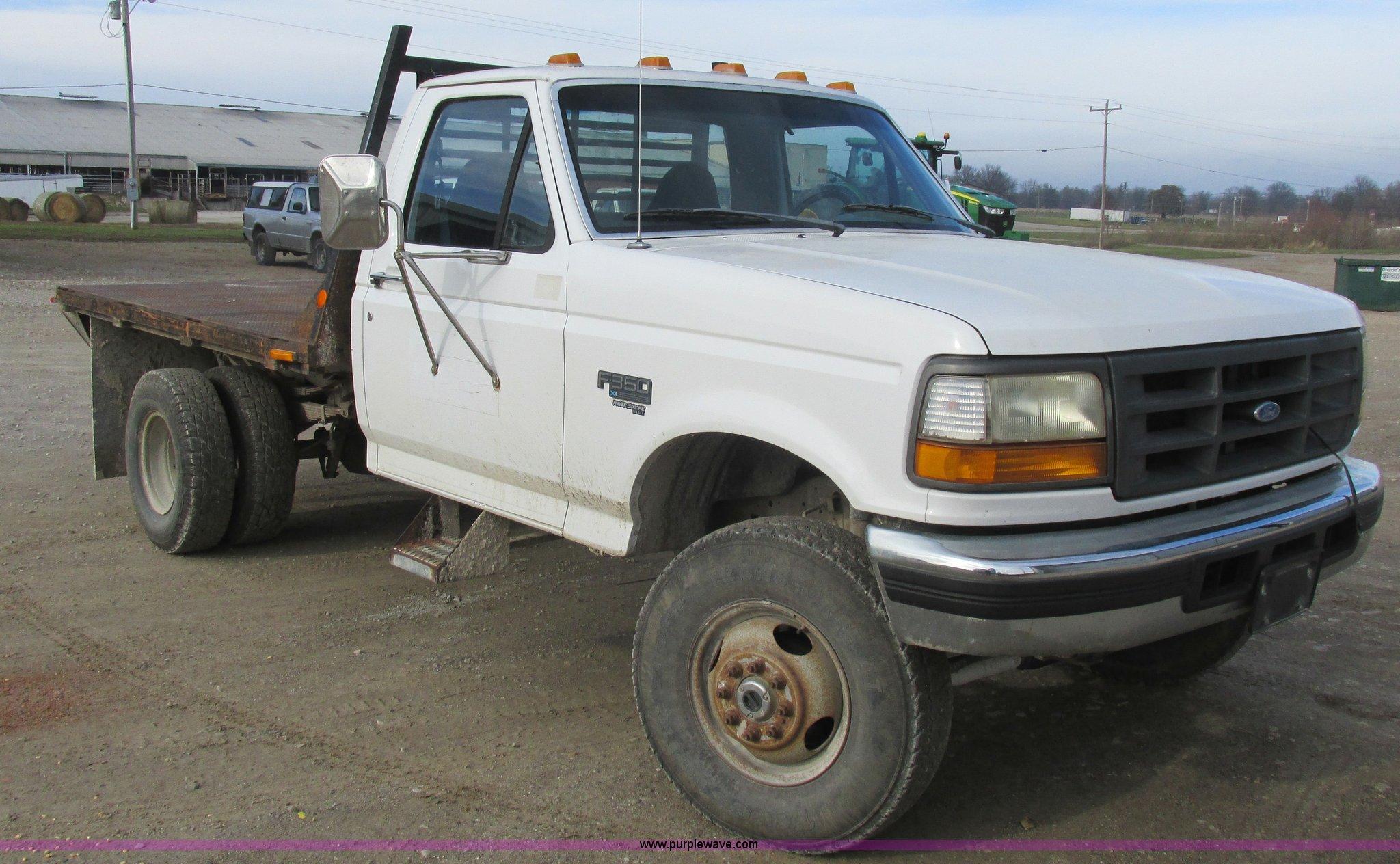 1997 Ford F350 Flatbed Pickup Truck Item L4229 Sold Jan