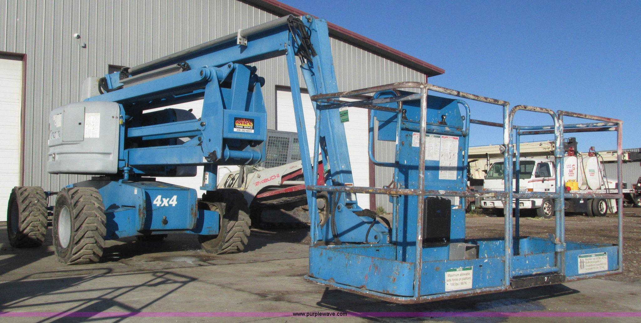 2002 genie z60 34 boom lift item h1037 sold february 11 rh purplewave com JLG 800AJ JLG 600AJ Specs