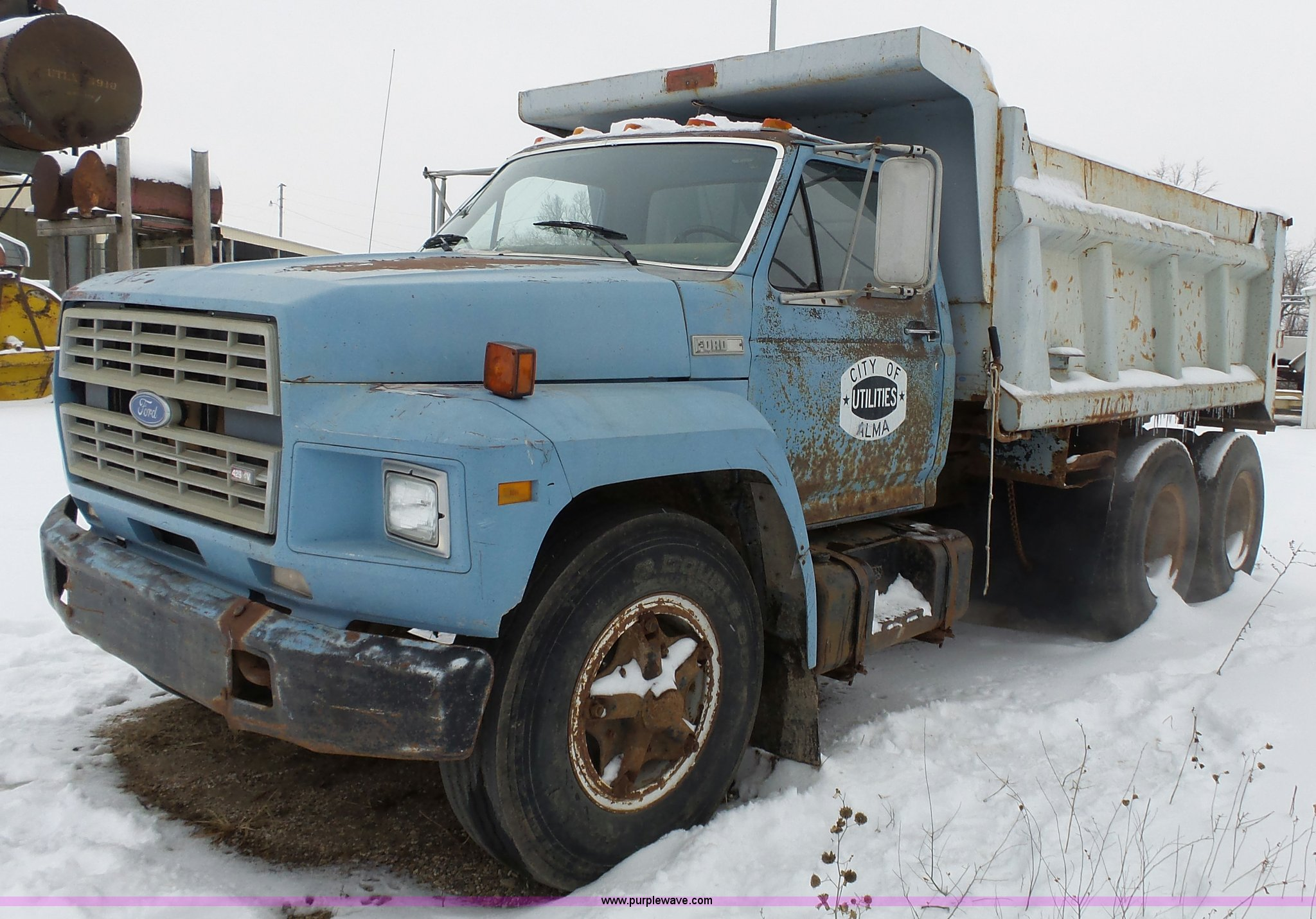 1980 Ford F700 Dump Truck Item L3661 Sold February 11 C Dual Tank Wiring Full Size In New Window