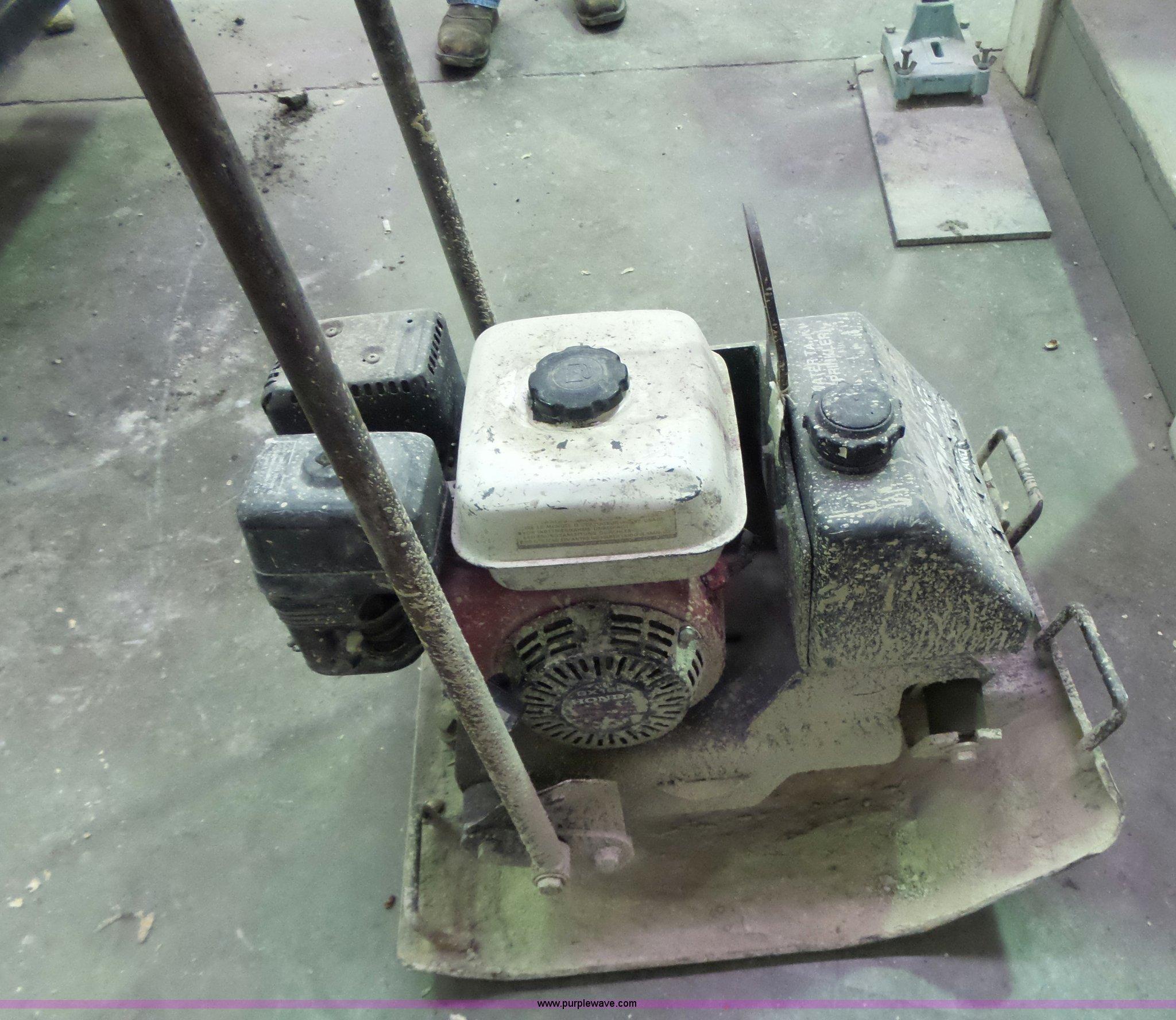 Honda Columbia Mo >> Stone S-52 vibratory plate compactor   Item L7029   SOLD ...