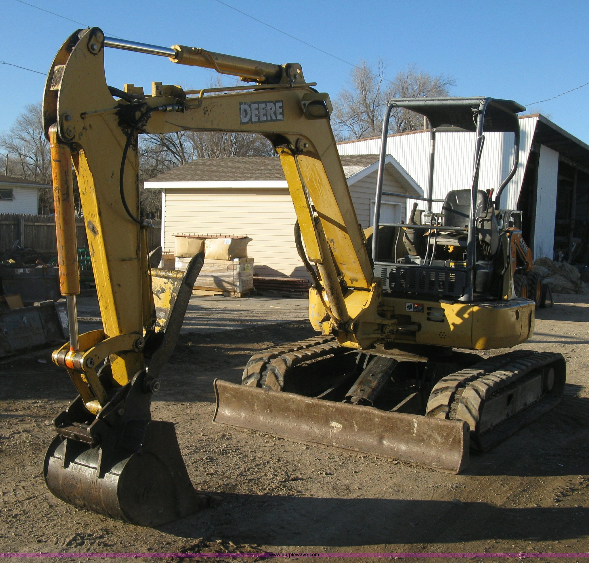 J2938 image for item J2938 2004 John Deere 50C ZTS compact excavator