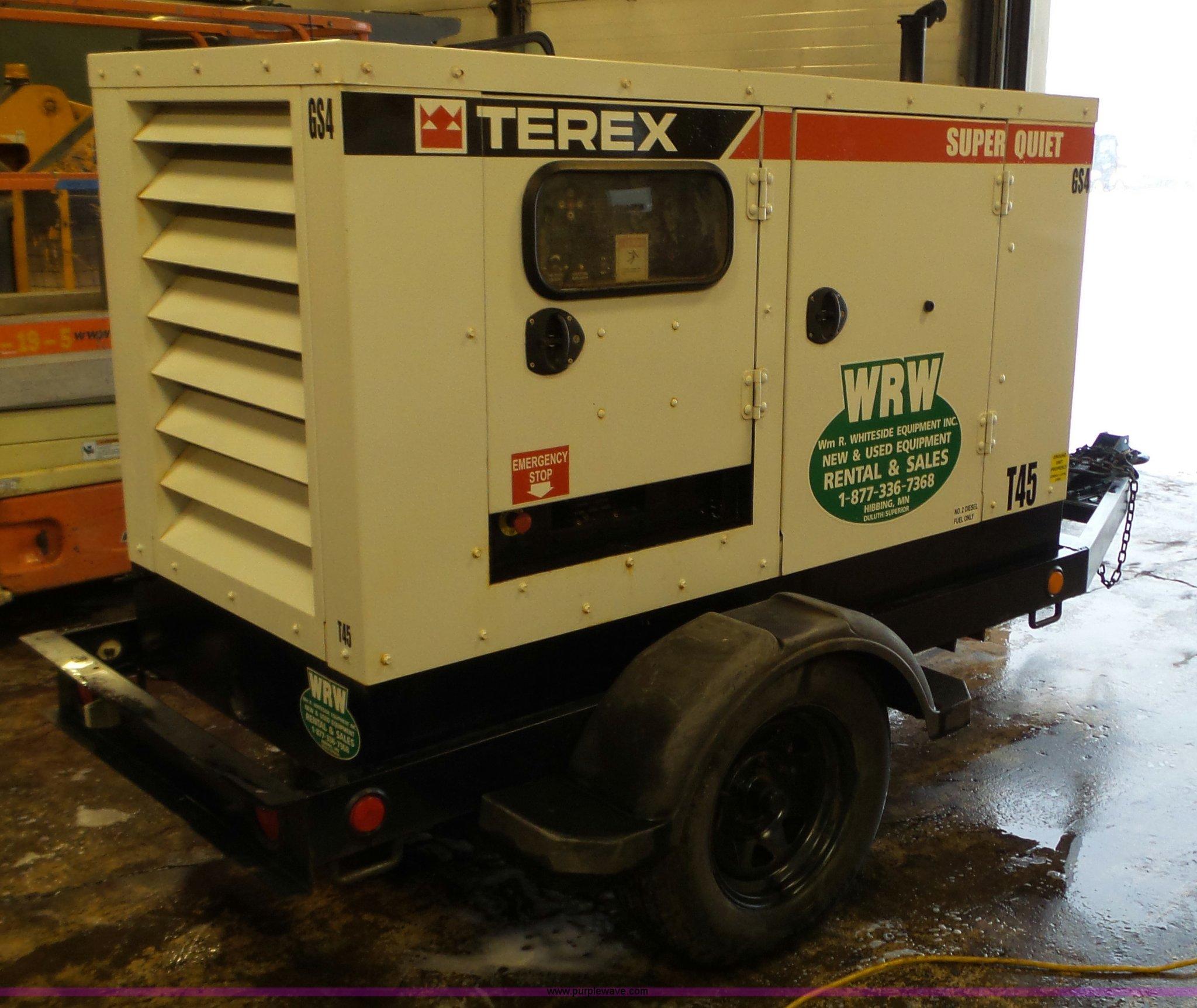2007 Terex generator Item L3918