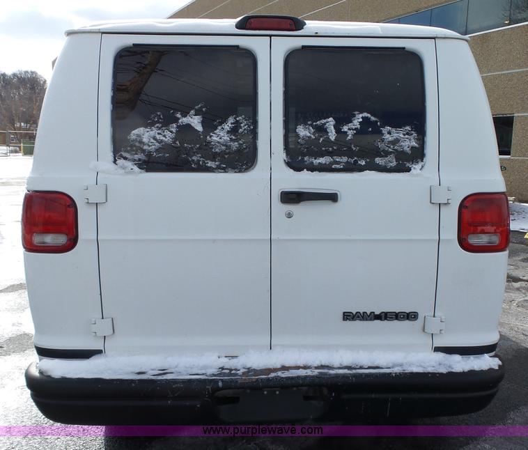 2002 Dodge Ram Van 1500 cargo van | Item L5546 | SOLD! March