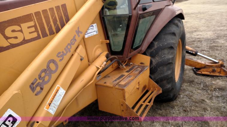 1993 Case 580 Super K backhoe | Item L6120 | SOLD! March 1 G